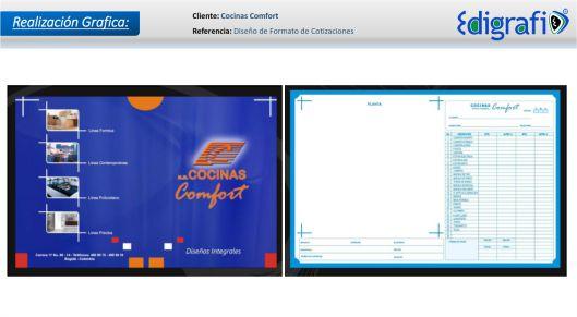 Diseño Formato para Cotizaciones - Cocinas Confort