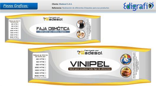 Diseño de Etiquetas - Madesol