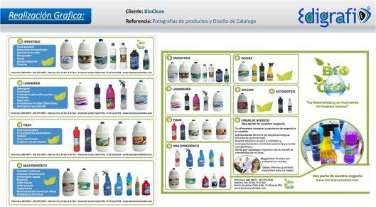 Fotografías y Diseño de Catalogo - BioClean