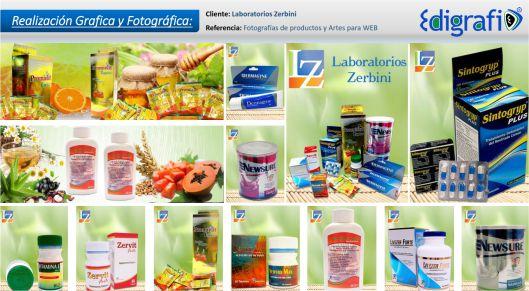 Fotografías y Artes para WEB - Laboratorios Zerbini