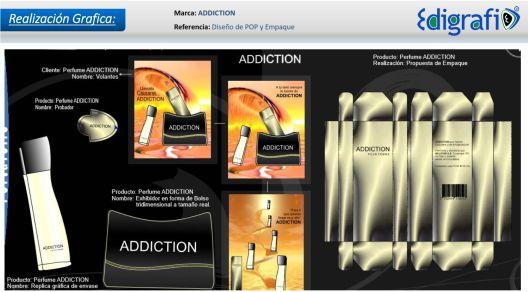 Diseño POP y Empaque de Perfume - Addiction